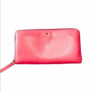 Kate Spade Hot Pink Cedar Street Leather Wallet